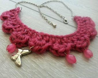 Necklace chain and hook with tassels