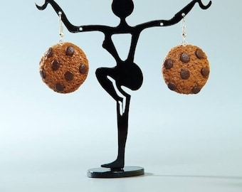 Polymer clay Cookie earring