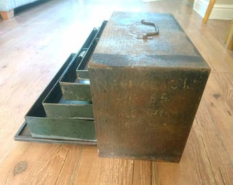 Vintage 4 drawer tool chest