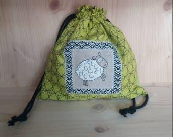 Snack bag / doudou sheep bag