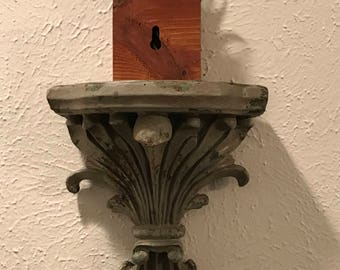 Distressed Sconce/Shelf