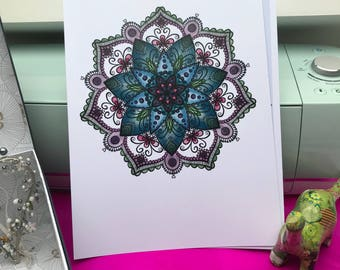 A4 Print - Hand drawn Mandala