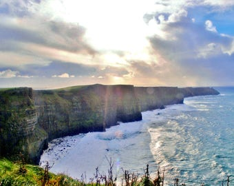 Travel Photography: Cliffs of Moher Ireland PRINT