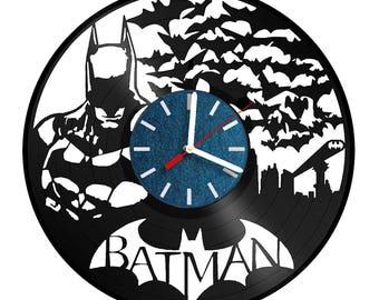 Batman Emblem Vinyl Record Wall Clock