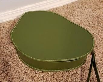 Vintage Avacado Green Shoe Case