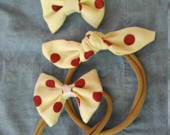 Custom bow, bibs or headbands