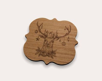 Christmas Deer 262-399 Coaster (Set of 4)