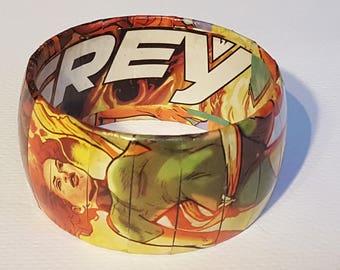 X-MEN JEAN GREY Bangle Bracelet (flawed) - Comic Book Jewelry