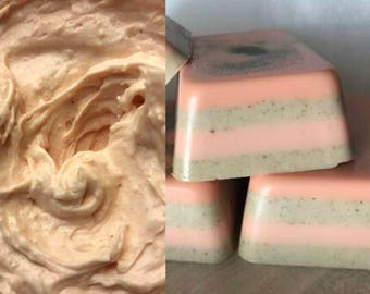 Orange Clove Gift Pack Sample Size or 8oz Jar and Sample Size or 4 oz Soap Bar Handmade by SterlingSoapCo
