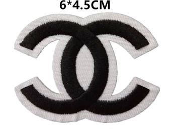 CC patches,iron on embroidery patch,Chanel badges for denim jeans,patches for jackets,hats patch,Chanel patches,small CC patch,cheap prices