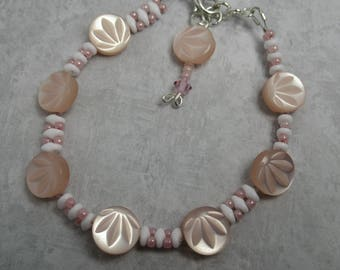 Bracelet Bead Cute as a Button Pink Floral