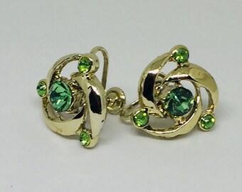 Green Swirl Rhinestones