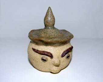 Bell of the rising sun in enamelled stoneware
