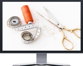 Sewing Handmade Arts Crafts Boutique E-Commerce Shopify Website Design
