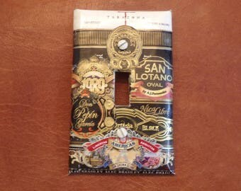 Cigar label standard light switch plate cover