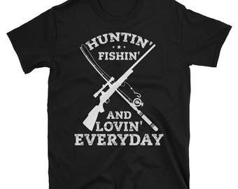 Fishing and loving etsy for Hunting fishing loving everyday