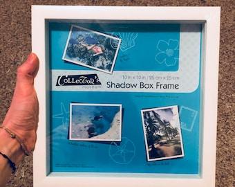"Box frame! Shadow box white! 10*10"""
