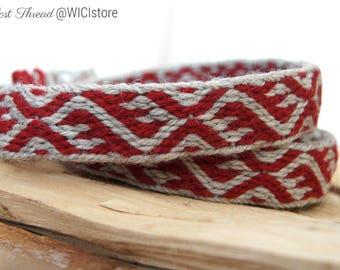 Viking tablet woven belt (trim) - Birka belt - 190 cm, 100% wool - Viking age reenactment or larp belt