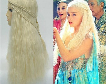 Game of Thrones Daenerys Targaryen Cosplay Wig For Women Halloween Play Wig Party Stage Hair 75cm long