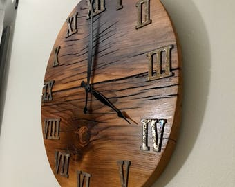 "Reclaimed Wood 18"" Clock"