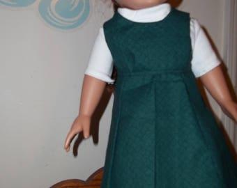 "18"" doll Green jumper 318E"