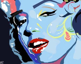 Marilyn Monroe Abstract Print of Original painting