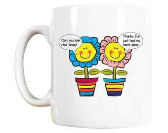 Flower Pot Mug: gardening gift, flower girl gift, florist gift, flowers, flower gift, gardener gifts, gardeners gifts, horticulturist