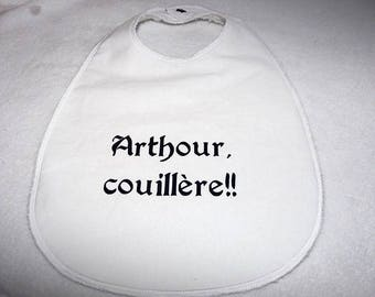 "Large bib ""table"" glued ""Arthour couillere"""