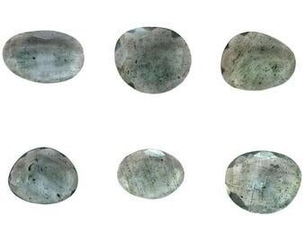 Aquamarine Natural Moss Aqua Both Side Faceted Rose Cut Polki Multi Lots For Designer Jewelry Making