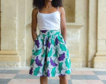 "Pleated skirt in wax ""Zola"""