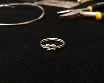 "Sterling silver ring ""Infinity"""