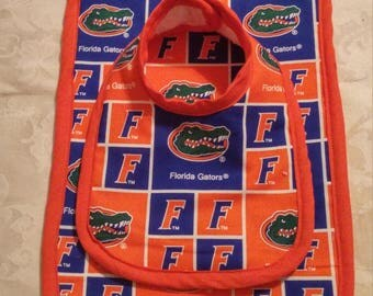 Florida Gators Bib and Burp Cloth Set