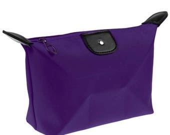 x 1 Kit/toiletry/cosmetic pouch purple
