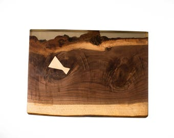 Walnut Live Edge End Table (Free Shipping)