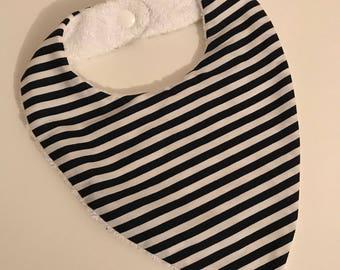 Bandana bib Terry cloth and cotton
