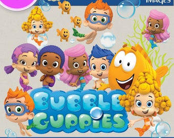 BUBBLE GUPPIES CLIPART, Digital Cliparts, Stickers, Decals, Transparent Backgrounds