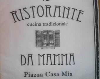 119-napkin restorante da mamma