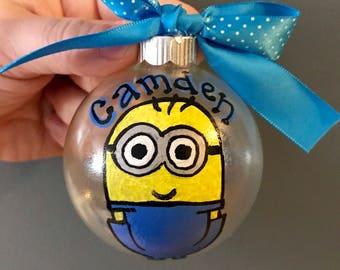 Minion personalized ornament