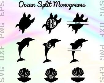 Animal Monogram SVG Files - Split Animal Dxf Files - Split Animal Clipart - Animal Monogram Cricut Files - Split Animal Cut Files