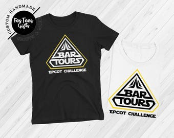 Bar Tours Epcot Challenge Food and Wine Shirt Fast Shipping