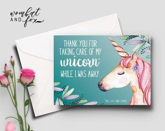 Thank you for looking after my unicorn