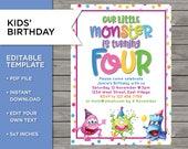 4th Birthday Invite, DIY ...
