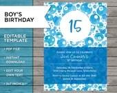Boy's Birthday Invite...