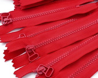 4 zippers zip not separable 14cm red zipper - sold by 4 pieces