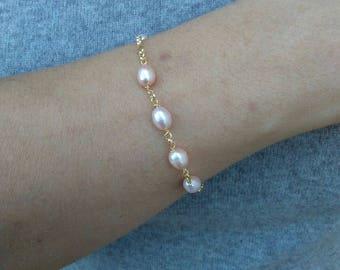 Sterling silver Bracelet 925 (pearls)
