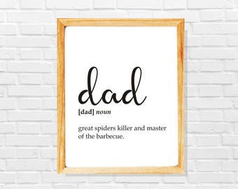 Funny Dad definition print, Dad gift, Christmas gift for Dad, Dad dictionary print, Sarcastic definition print, Dad christmas print