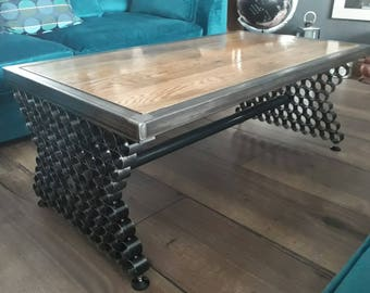Unique Industrial Style Coffee Table