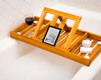 Cedar Bath Tray, Wood Caddy, handmade, rustic tray