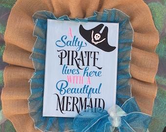 Mermaid /Pirate Wreath