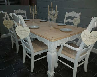 Gorgeous Shabby chic extending table